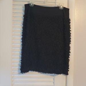 Talbots black size 10 skirt ruffled flowers cute